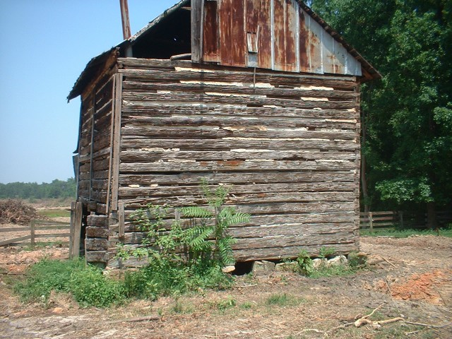 Tobacco barns old log cabins for Tobacco barn house plans