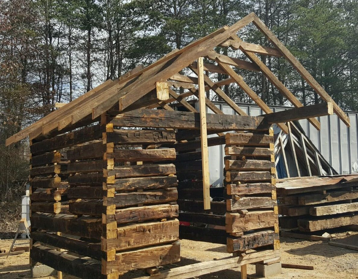 Hand hewn log cabin reclaimed log cabins distinguished for Hand hewn log cabin for sale