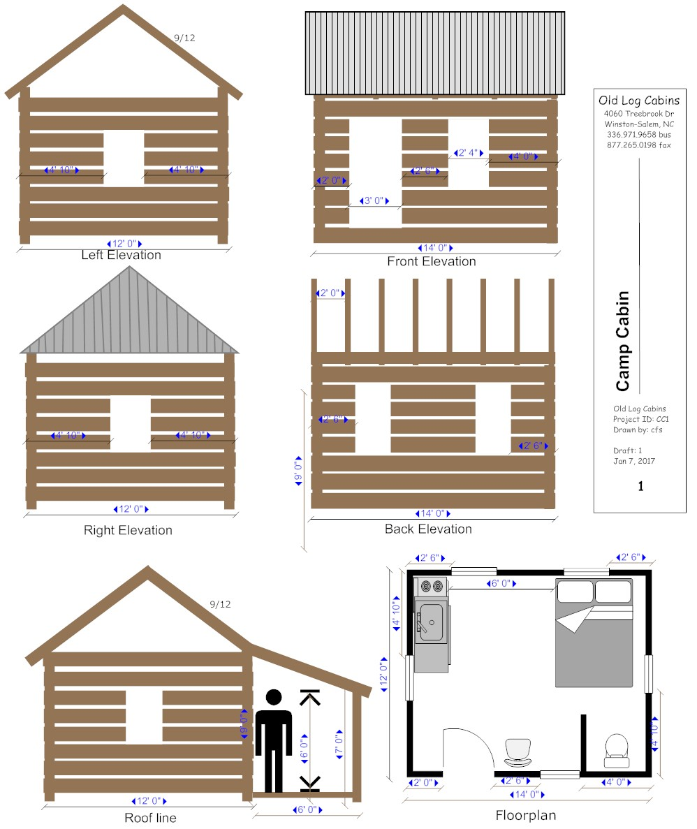 Camp cabin old log cabins for Camping cabins plans
